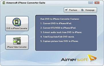 Aimersoft iPhone Converter Suite – iPhone Video Converter, Rip DVD to iPhone Converter