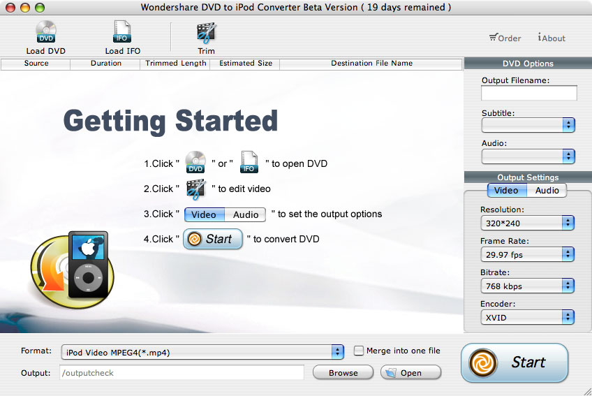 Wondershare DVD to iPod Suite for Mac – Mac DVD to iPod Classic, Mac Video to iPod Classic, iPod Nano, iPod Touch