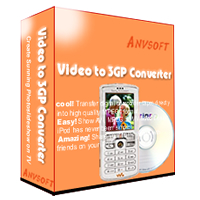 Anvsoft Video to 3GP Converter transform raw videos into professional-looking movies and convert them to 3GP MP4 format files playable on cellular phone.